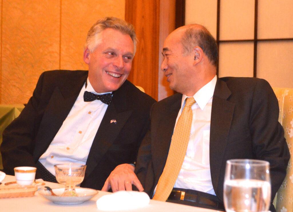 Virginia Governor Elect Terry McAuliffe and Ambassador Kenichiro Sasae