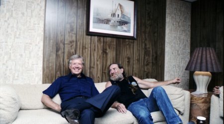 President Carter and Willie Nelson backstage at Merriweather Post Pavilion, Columbia, MD (1980)