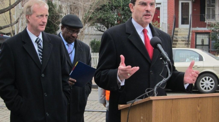 Mayor Vincent Gray at the groundbreaking