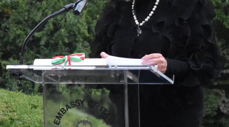 Pat Harrison awarded the highest-ranking honor of the Italian Republic October 7, 2020.