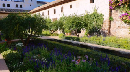 The Patio de la Acequia in the Generalife is one of the Alhambra's best known courtyards.
