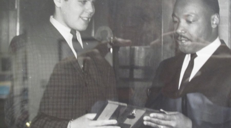 Presenting MLK Jr. with an award in February 1963 at my HS in NYC