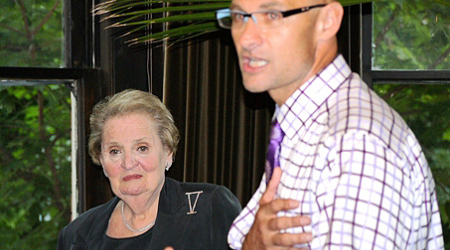 Clark Ray with Madeleine Albright, 2010