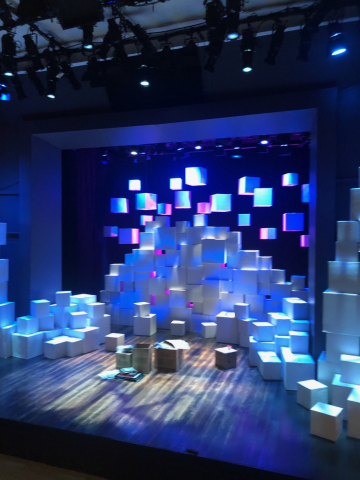 Stage setting for Becoming Dr. Ruth